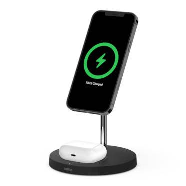 Bộ Sạc Không Dây Hyperjuice Magnetic 2 In 1 Wireless Charging Stand Iphone 12 Series & Airpods (HJ461-GR)